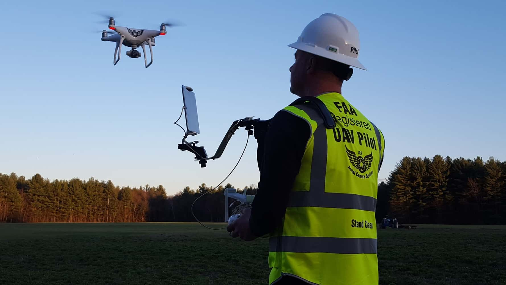 Pictures of a Shoulder Monitor Drone Operation